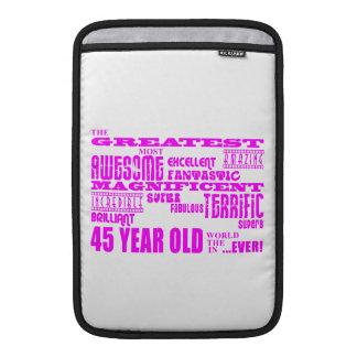 45.os cumpleaños cuarenta y cinco más grandes rosa funda para macbook air