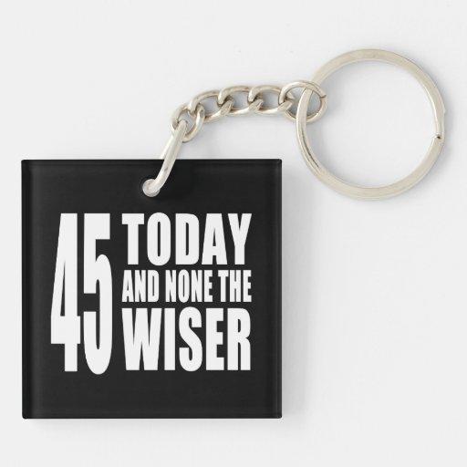 45.os cumpleaños divertidos: 45 hoy y ningunos el llavero cuadrado acrílico a doble cara