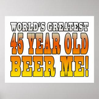 45.os cumpleaños divertidos: Años más grandes de Póster