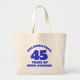 45.os diseños de los años bolsa tela grande