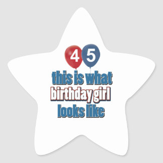 45.os diseños de los años pegatina en forma de estrella