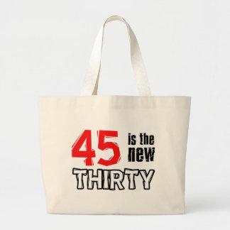 45.os diseños del cumpleaños bolsa tela grande