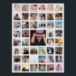 """45 Photo Collage Personalized Poster<br><div class=""""desc"""">Create a Photo Collage Personalized poster from Ricaso - add 45 individual photos to make a photo collage</div>"""
