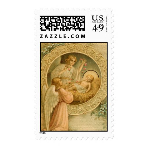 .45 Postage: Love Came Down Postage Stamp
