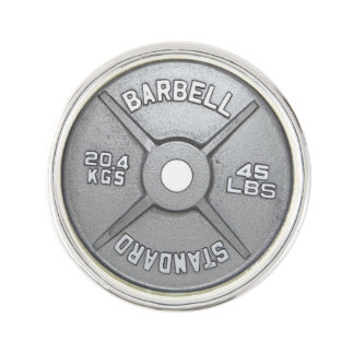 45 Pound Barbell Plate Lapel Pin