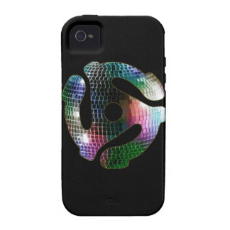 45 Record Adapter iphone 4 Case - Mirror Ball