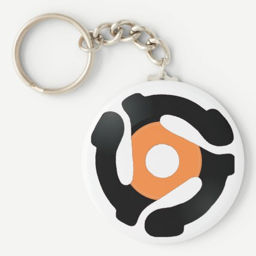 45 Record Adapter Keychain - Vinyl
