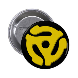 45 Record Adapter Pinback Button
