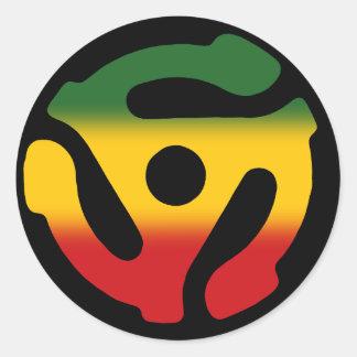 45 Record Adapter Reggae Single Sticker