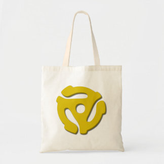 45 Record Adapter Tote Bag