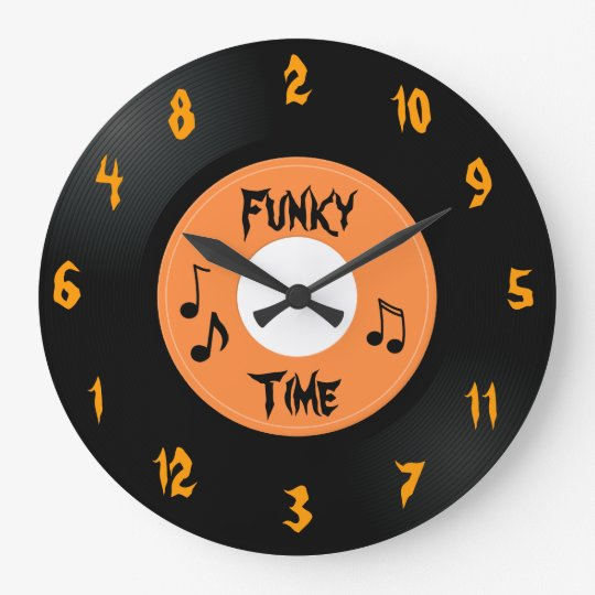 45 Record (Funky Time) - Custom Clock