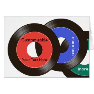 45 Records Customizable Card