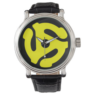 45 rpm adapter watch (yellow on black)