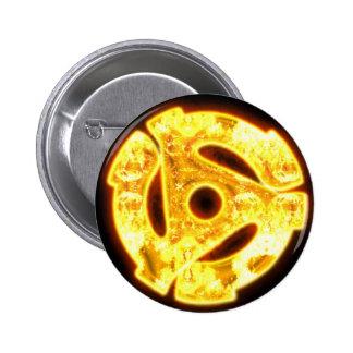 45 RPM en el botón del fuego Pin Redondo De 2 Pulgadas