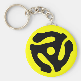 45 RPM Record Adapter Keychain