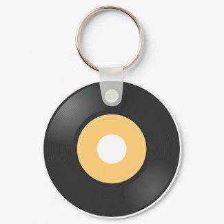 45 rpm Record keychain
