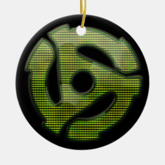 45 rpm Reflector Double-Sided Ceramic Round Christmas Ornament
