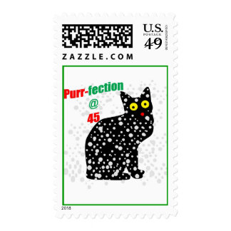 45 Snow Cat Purr-fection Postage Stamps