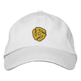 45 Spacer DJ Retro Music Vinyl Embroidered Hats