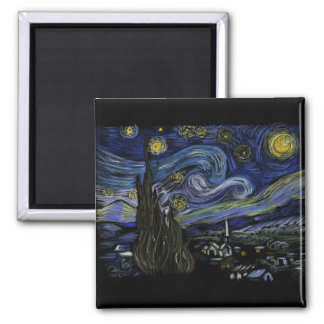 45 - Starry night by Vincent Van Gogh Magnet