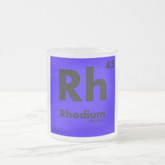 45 tabla periódica del rodio   de elementos taza de cristal