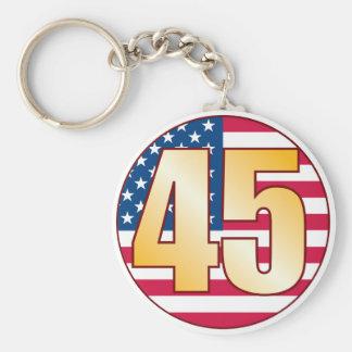 45 USA Gold Keychain