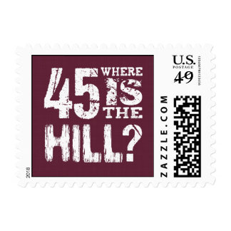 45 Where Is The Hill Funny 45th Birthday BU45Z Postage