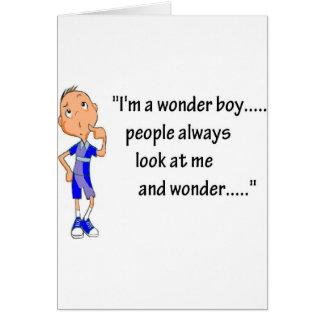 45-Wonder Boy.jpg Tarjeta De Felicitación