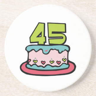 45 Year Old Birthday Cake Coaster