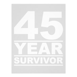 45 year survivor letterhead