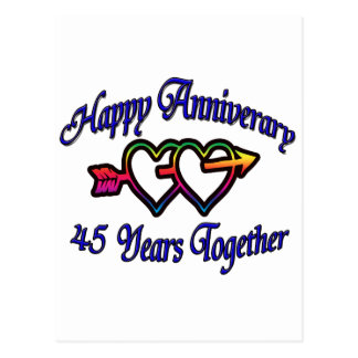 45 Years Together Postcard