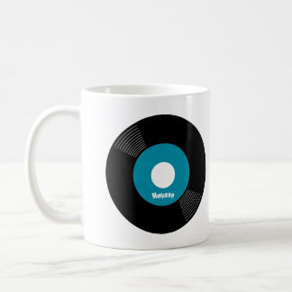 45s Record Mug (Teal) — PERSONALIZE IT!