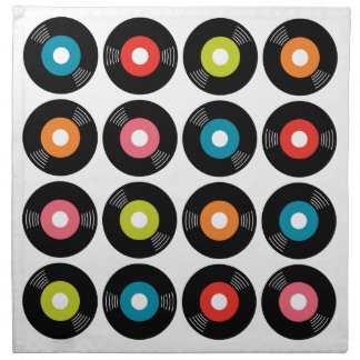 45s Record Napkins Set/4