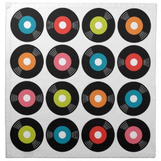 45s Record Napkins Set/4
