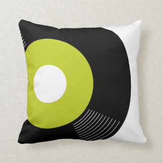 45s Record Pillow (Lime) — SQUARE