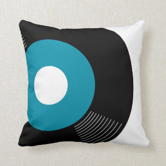 45s Record Pillow (Teal) — SQUARE