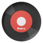45s Record Plate (Red) CUSTOMIZABLE