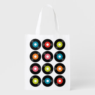 45s Record Reusable Grocery Bag