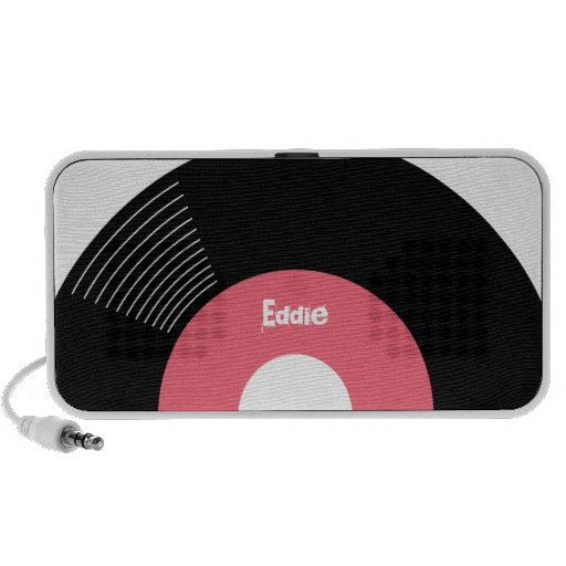 45s Record Speaker (Pink) CUSTOMIZABLE