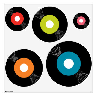 45s Record Wall Decals