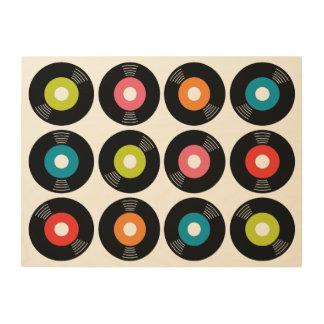 45s Record Wood Sign 24x18 Wood Prints