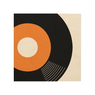 45s Record Wood Sign Orange 8x8