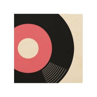 45s Record Wood Sign Pink 8x8 Wood Print