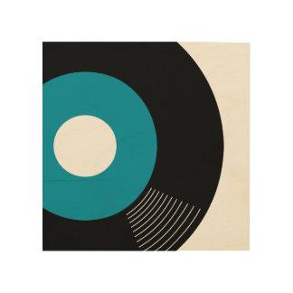 45s Record Wood Sign Teal 8x8 Wood Prints