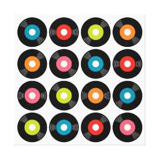 """45s Record Wrapped Canvas — 2.5"""" thick Gallery Wrap Canvas"""