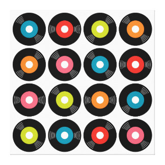 """45s Record Wrapped Canvas — 3/4"""" thick Canvas Prints"""