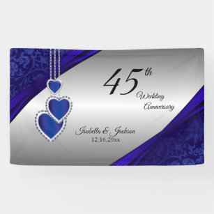 Silver wedding anniversary banners signs zazzle