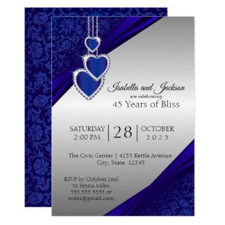 45th / 65th Sapphire Silver Anniversary Design Card