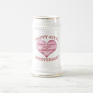 45th. Anniversary Beer Stein