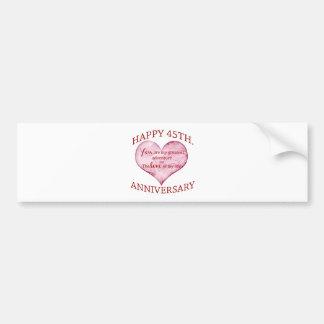45th. Anniversary Bumper Sticker